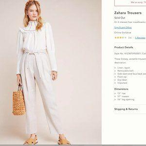 RETAIL $180!  *linen* pants -Anthropologie NWT!!